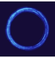 Abstraction digital circles light vector image