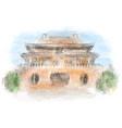 forbidden city beijing vector image
