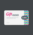 gift voucher modern template with futuristic vector image