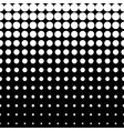 halftone pattern circles and dots vertical rows vector image