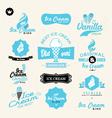 ice cream shop logo vector image