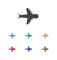 of holiday symbol on airplane vector image