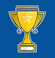 trophy cup flat icon vector image