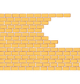 Brick background vector image vector image