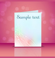 greeting card with light effects vector image