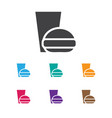 of education symbol on burger vector image