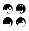 Girl Avatar Icons vector image