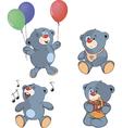 A set of bears Cartoon vector image vector image