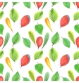 seamless pattern of red and green leaves vector image