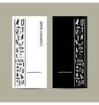 Egypt hieroglyphs Business cards design vector image vector image