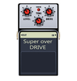 guitar pedal vector image vector image
