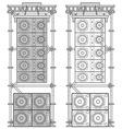 line array concert acoustics scaffold suspension vector image vector image