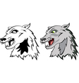 head a wolf vector image vector image