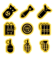 Military stikers set vector image