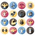 Bodybuilding Flat Icons Set vector image