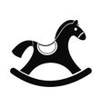 Children rocking horse icon vector image