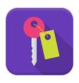 Key app icon with long shadow vector image