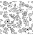 roses chamomile leaves vector image