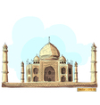 The Taj Mahal India vector image
