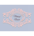 Vintage decor frame in pink vector image