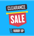 social media clearance sale banner vector image