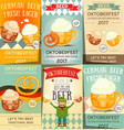 oktoberfest beer festival posters set vector image