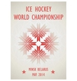Retro poster for the World Hockey Championship in vector image
