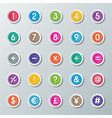 numbers 0 to 9 and symbols vector image