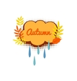 Autumn logo with autumn leaves vector image vector image