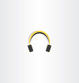 headphones icon music vector image