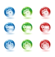 Photo video cameras and printer icons vector image