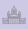Helsinki Cathedral vector image