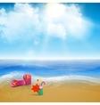 beach landscape vector image