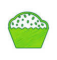 cupcake sign lemon scribble icon on white vector image