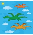 Dragons flies in the blue sky vector image