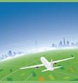 geneva skyline flight destination vector image