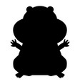 hamster silhouette vector image