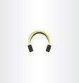 headphones icon music vector image