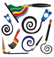 paint tools cartoons vector image