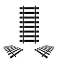 rails set black vector image