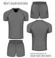 rugby uniform in black vector image