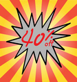 Sale 40 text vector image