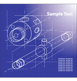 Technical Blueprint vector image
