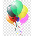 Transparent colorful balloons vector image