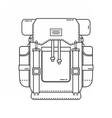 Hiking Backpack Icon vector image