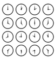 World clock time zone icons vector image