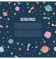 Outer Space Cartoon Web Template vector image