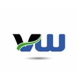 VW company linked letter logo icon vector image