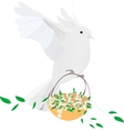dove fly vector image
