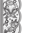 Abstract lace with elements of butterflies and vector image